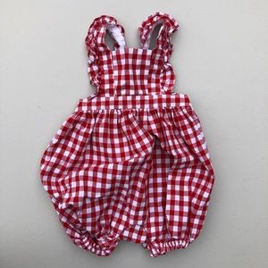 Baby Gap | gingham one piece holly berry